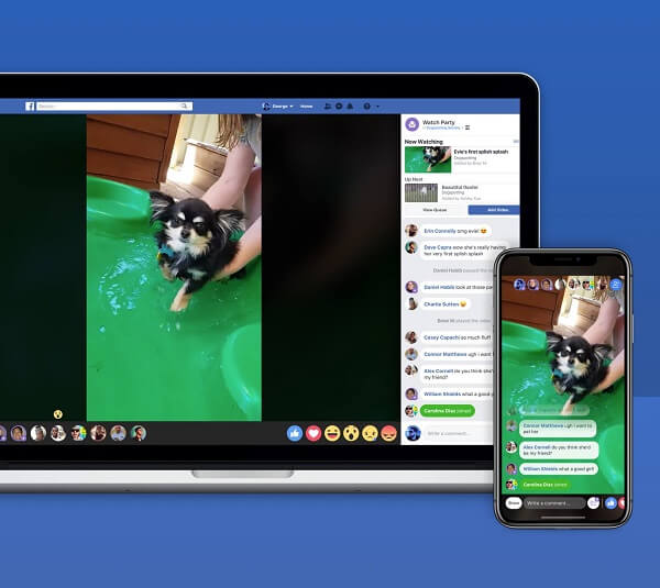 Facebook is testing a new video experience in Groups called, Watch Party, that allows members to watch videos together at the same time and in the same place.
